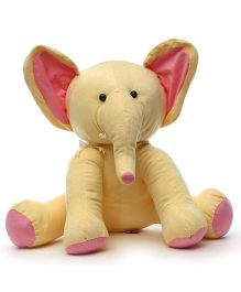Acctu Toys Sitting Elephant Soft Toy Off White - 45 cm