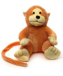 Acctu Toys Long Tail Monkey Soft Toy - Light Brown