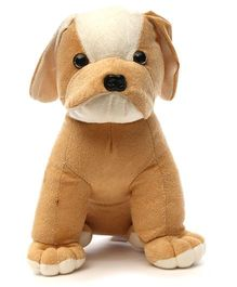 Acctu Toys Bull Dog Soft Toy Brown - 20 cm