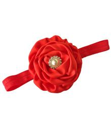 Bellazaara Trendy Headband For Little Girls - Red