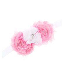 Bellazaara Trendy Headband For Little Girls - Pink & White