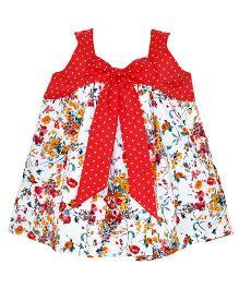 Mom's Girl Sleeveless Floral Print Dress  - Multicolor