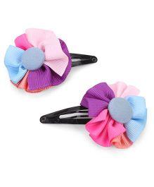 Hopscotch Snap Clips Floral Design - Multi Color