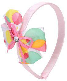 Hopscotch Bubble Print Bow Hair Band - Multicolor