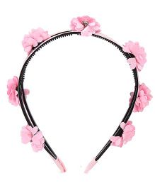 Hopscotch Floral Applique Hairband - Pink