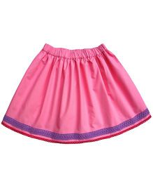 Campana Lace Trimmed Skirt - Pink