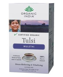 Organic India Tulsi Mulethi Tea - 18 Tea Bags