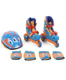 Hotwheels Skates Combo - Blue And Orange