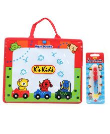 K's Kids Aqua Doodle Drawing Board With Water Pen - Red