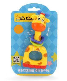 K's Kids Rattling Giraffe - Yellow