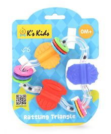 K's Kids Rattling Triangle - Multicolor