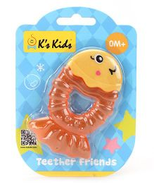 K's Kids Teether Friends Fish - Orange And Yellow