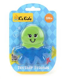 K's Kids Teether Friends Octopus - Green & Blue