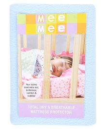 Mee Mee Total Dry And Breathable Mattress Protector Medium - Blue