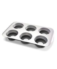 Wonderchef Pop 6 Cups Muffin Pan - Grey & Black