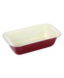 Wonderchef Carbon Steel Quad Cake Mould - White & Maroon