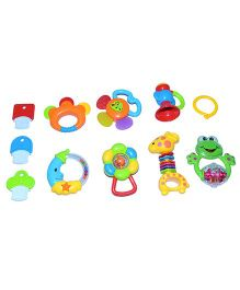Happykids 11 In 1 Baby Toys Teethers And Rattles - Multicolor