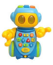 Happy Kids Intelligent Robot With Music And Record and Replay Function - Blue And Yellow