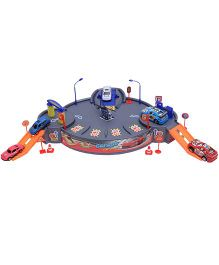 Happykids Garage Playset With Cars and Helicopter Toys - Multicolor