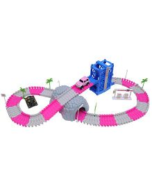 Happykids 108 Pieces Track Set With Battery Operated Car - Multicolor