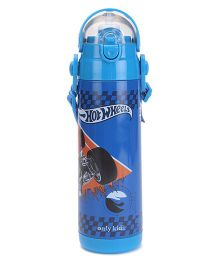 Hot Wheels Thermo Sipper Bottle Blue - 500 ml