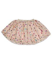 CrayonFlakes Net Skirt - Peach