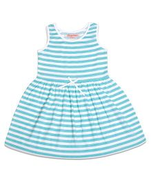 CrayonFlakes Turquoise Striper Dress - Turquoise