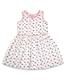 CrayonFlakes Chirpy Birds Dress - White