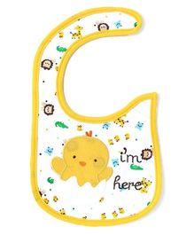 Little Hip Boutique Little Chick Bib - White & Yellow