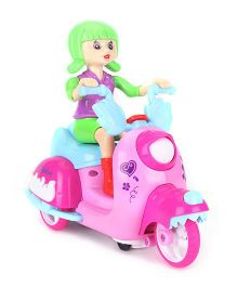 Smiles Creation Kind Girls Scooter Riding Girl - Pink And Green