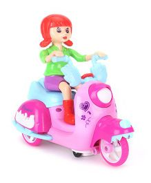 Smiles Creation Kind Girls Scooter Riding Girl - Pink And Red