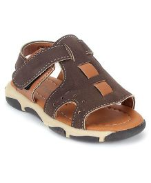 Cute Walk by Babyhug Sandals - Brown