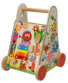 Alex Toys Wooden Push Cart - Multicolor