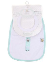Piccolo Bambino Milk Feeding Bib - Green White
