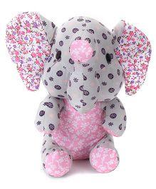 Abracadabra Fabric Elephant Stuffed Toy - Grey Pink