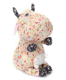 Abracadabra Fabric Cow Stuffed Toy Cream - 25 cm