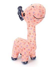 Abracadabra Fabric Giraffe Stuffed Toy - Peach