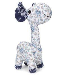 Abracadabra Fabric Giraffe Stuffed Toy White - 9 Inches
