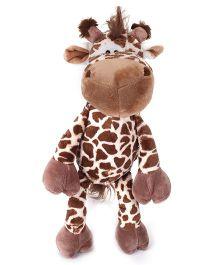 Abracadabra Fabric Giraffe Stuffed Toy - Brown