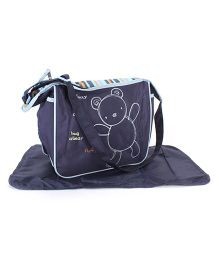 Abracadabra Diaper Bag With Changing Mat - Blue