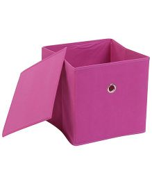 Abracadabra Storage Box With Lid - Purplish Pink