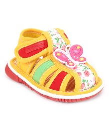 Cute Walk by Babyhug Sandals Butterfly Motif - Yellow