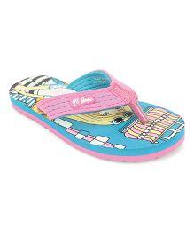 Barbie Flip Flops - Pink & Sea Green