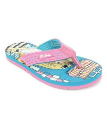Barbie Flip Flops - Pink & Sea Green