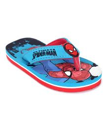 Spider Man Flip Flops - Real Blue And Red