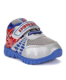 Spider Man Printed Casual Shoes - Royal Blue And Red