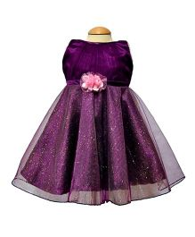 Simply Cute Glitter Net Dress - Purple