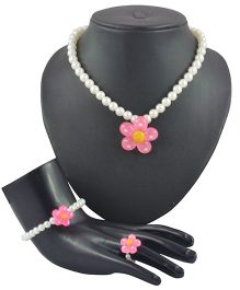 Angel Glitter 3 Piece Jewelry Set - Night Blooming White Flower