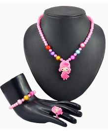 Angel Glitter My Sweet Lil Anabel 3 Pieces Jewellery Set - Pink