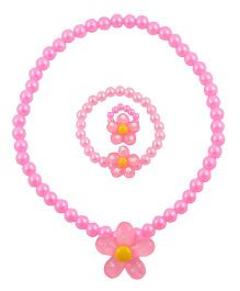 Angel Glitter A Glimpse In The Garden 3 Pieces Jewellery Set - Pink